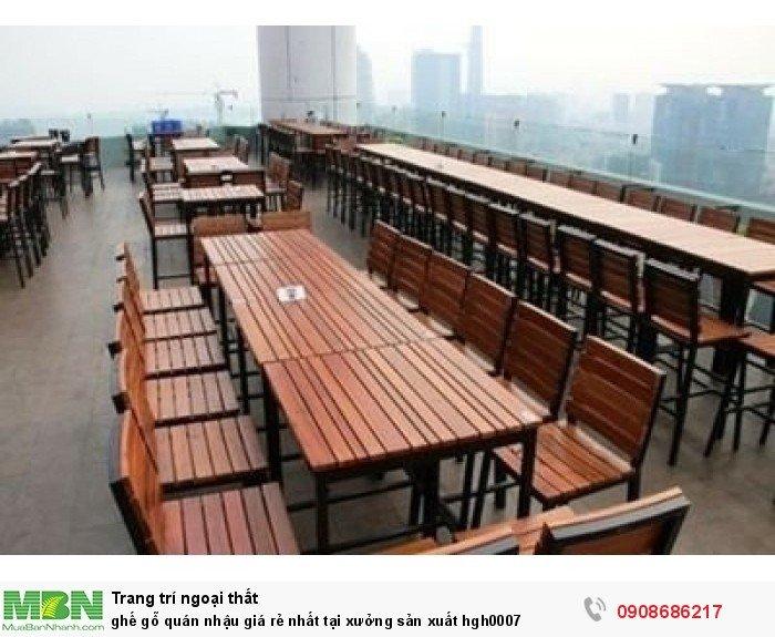 Ghế gỗ quán nhậu giá rẻ nhất tại xưởng sản xuất hgh00071