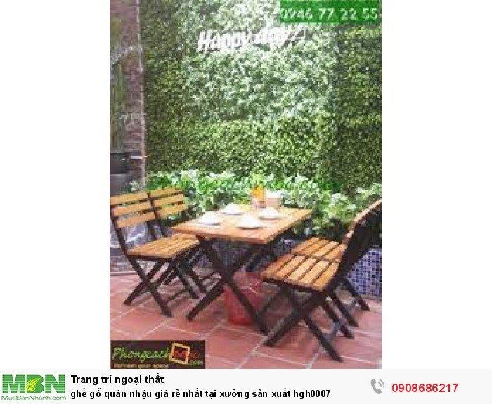 Ghế gỗ quán nhậu giá rẻ nhất tại xưởng sản xuất hgh00073