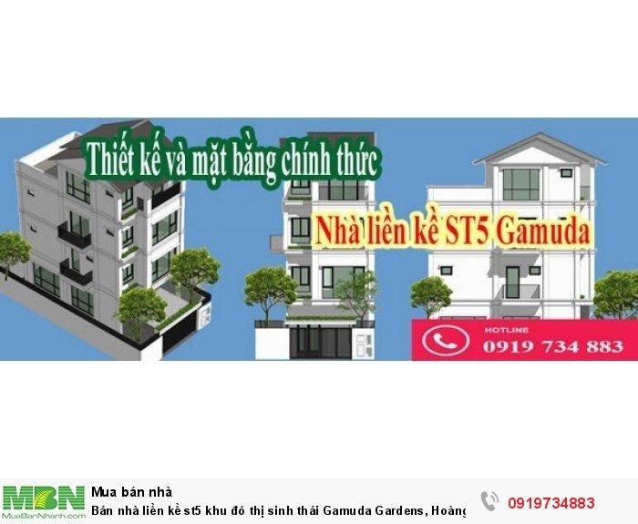 Bán nhà liền kề st5 khu đô thị sinh thái Gamuda Gardens, Hoàng Mai, chiết khấu cao