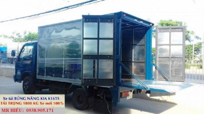 Xe tải bửng nâng - xe tải kia k165s bửng nâng tải 1800 KG xe mới đời 2017 1