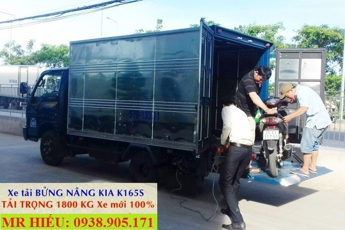 Xe tải bửng nâng - xe tải kia k165s bửng nâng tải 1800 KG xe mới đời 2017 2