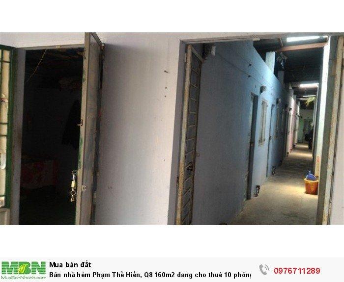 Bán nhà hẻm Phạm Thế Hiển, Q8 160m2 đang cho thuê 10 phòng trọ