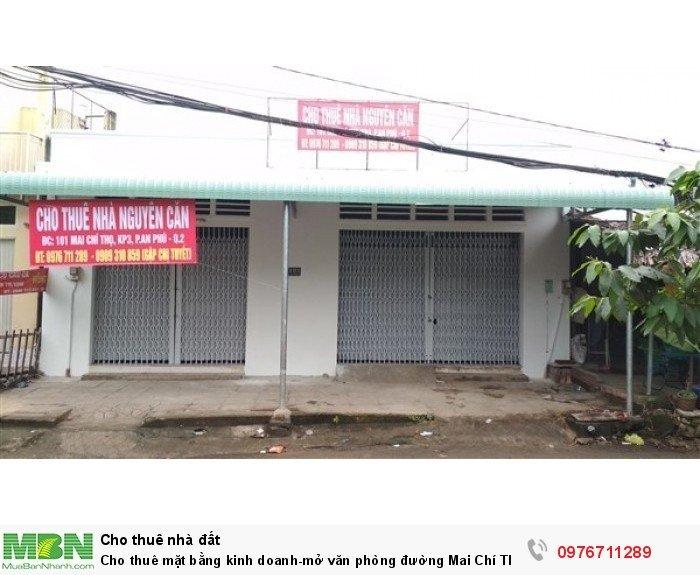 Cho thuê mặt bằng kinh doanh-mở văn phòng đường Mai Chí Thọ. Giá 27tr/th