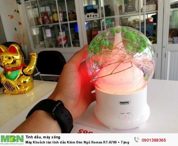 Máy Khuếch tán tinh dầu Kiêm Đèn Ngủ Remax RT-A700 + Tặng Kèm Tinh Dầu - MSN388312