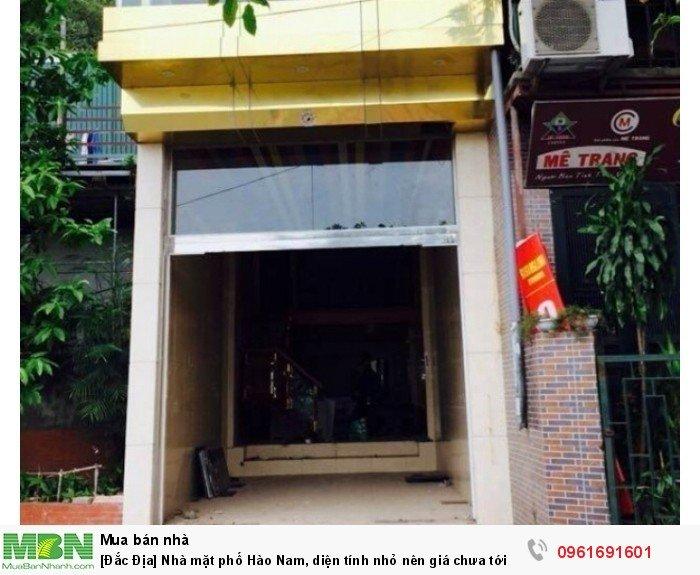 [Đắc Địa] Nhà mặt phố Hào Nam, diện tính nhỏ