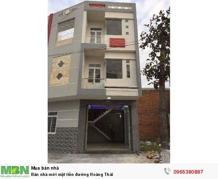 Bán nhà mới mặt tiền đường Hoàng Thái