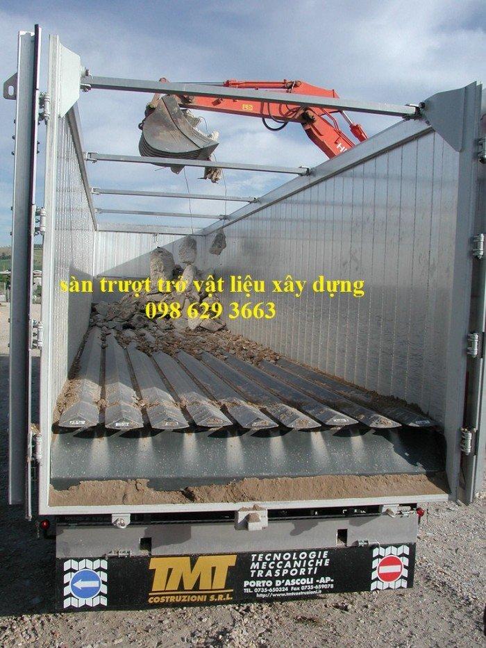 Moving floor, Walking floor traler, sàn trượt trên xe tải