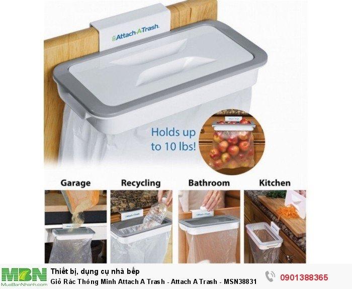 Giỏ treo đựng rác cài cánh tủ bếp rất tiện lợi khi nấu nướng, giúp mặt bếp luôn sạch sẽ, gọn gàng hơn.
