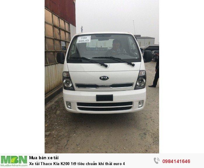 Xe tải Thaco Kia K200 1t9 tiêu chuẩn khí thải euro 4 1