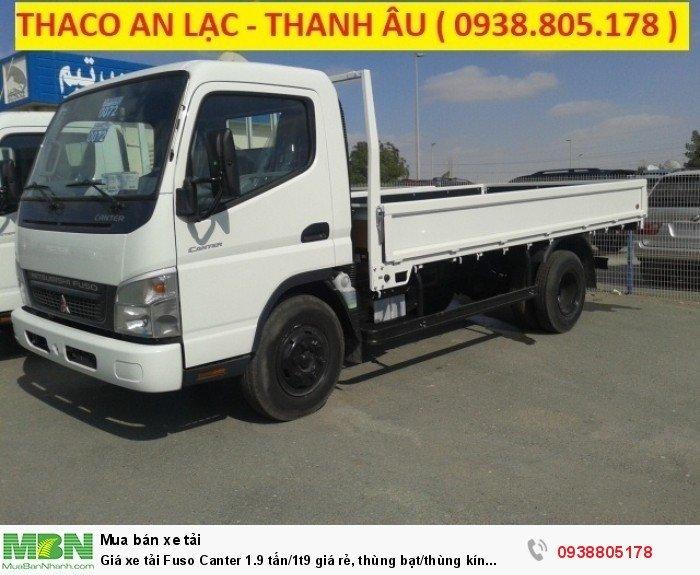 Giá xe tải Fuso Canter 1.9 tấn/1t9 giá rẻ, thùng bạt/thùng kín giao ngay,giá tốt nhất,vay ngân hàng. 0