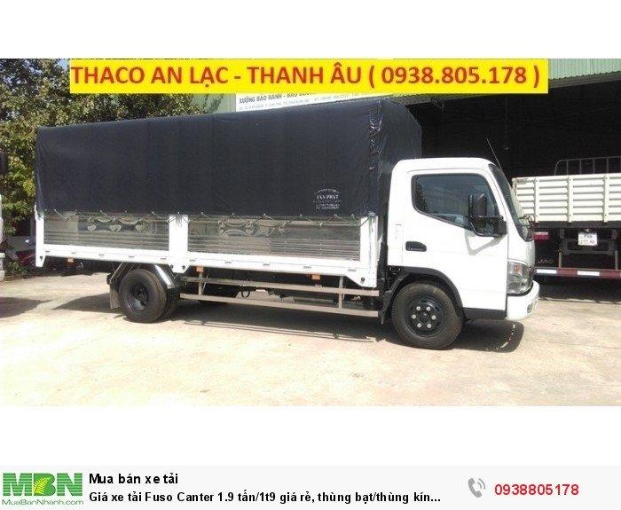 Giá xe tải Fuso Canter 1.9 tấn/1t9 giá rẻ, thùng bạt/thùng kín giao ngay,giá tốt nhất,vay ngân hàng. 1