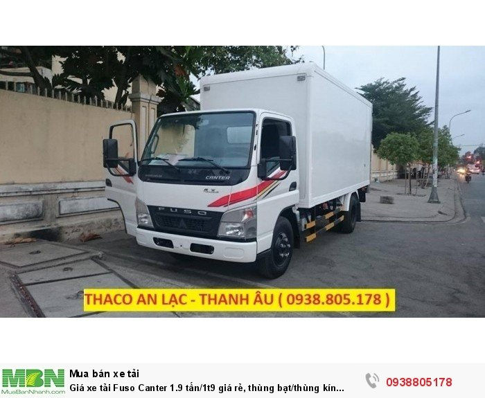 Giá xe tải Fuso Canter 1.9 tấn/1t9 giá rẻ, thùng bạt/thùng kín giao ngay,giá tốt nhất,vay ngân hàng. 2