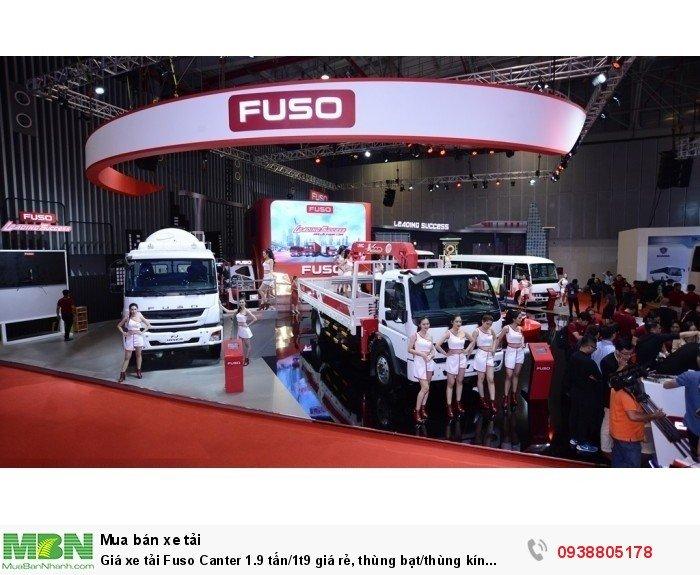 Giá xe tải Fuso Canter 1.9 tấn/1t9 giá rẻ, thùng bạt/thùng kín giao ngay,giá tốt nhất,vay ngân hàng. 4