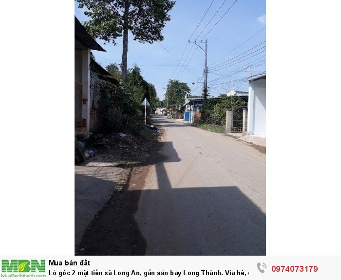 Lô góc 2 mặt tiền xã Long An, gần sân bay Long Thành. Vỉa hè, cây xanh. Sổ hồng, thổ cư