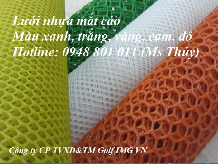 Cơ sở sản xuất lưới sàn nhựa, lưới nhựa cứng mắt cáo, lưới nhựa dẻo dai tạo hình trang trí0