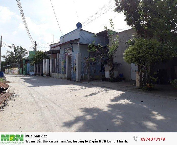 178m2 đất thổ cư xã Tam An, hương lộ 2 gần KCN Long Thành. Sổ hồng