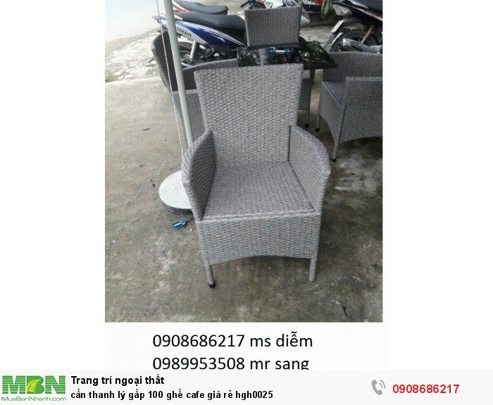 Cần thanh lý gấp 100 ghế cafe giá rẻ hgh00250