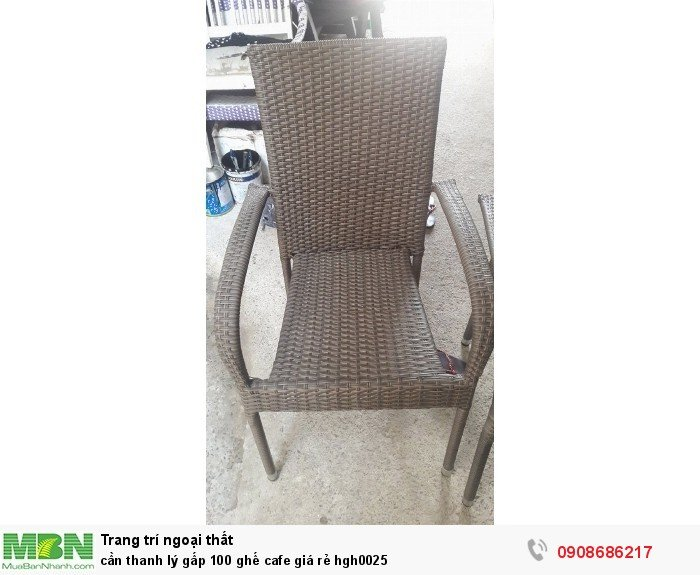 Cần thanh lý gấp 100 ghế cafe giá rẻ hgh00254