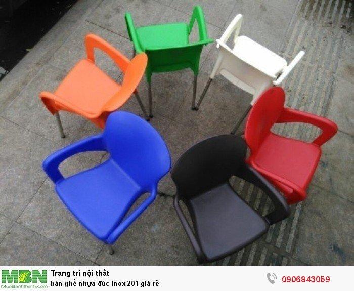 bàn ghế nhựa đúc inox 201 giá rẻ0