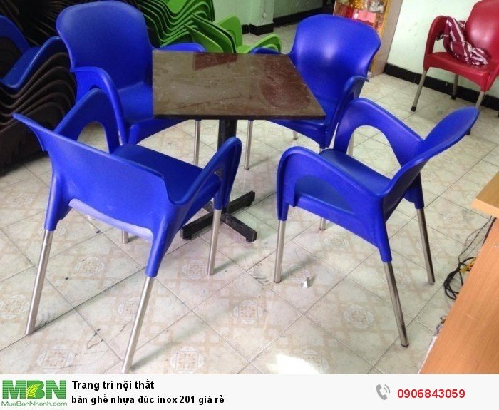 bàn ghế nhựa đúc inox 201 giá rẻ2