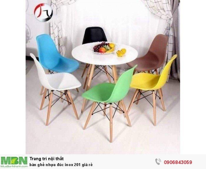 bàn ghế nhựa đúc inox 201 giá rẻ4