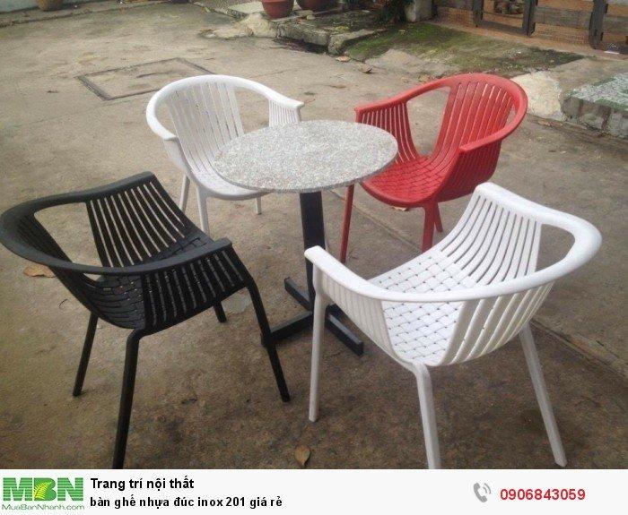 bàn ghế nhựa đúc inox 201 giá rẻ5