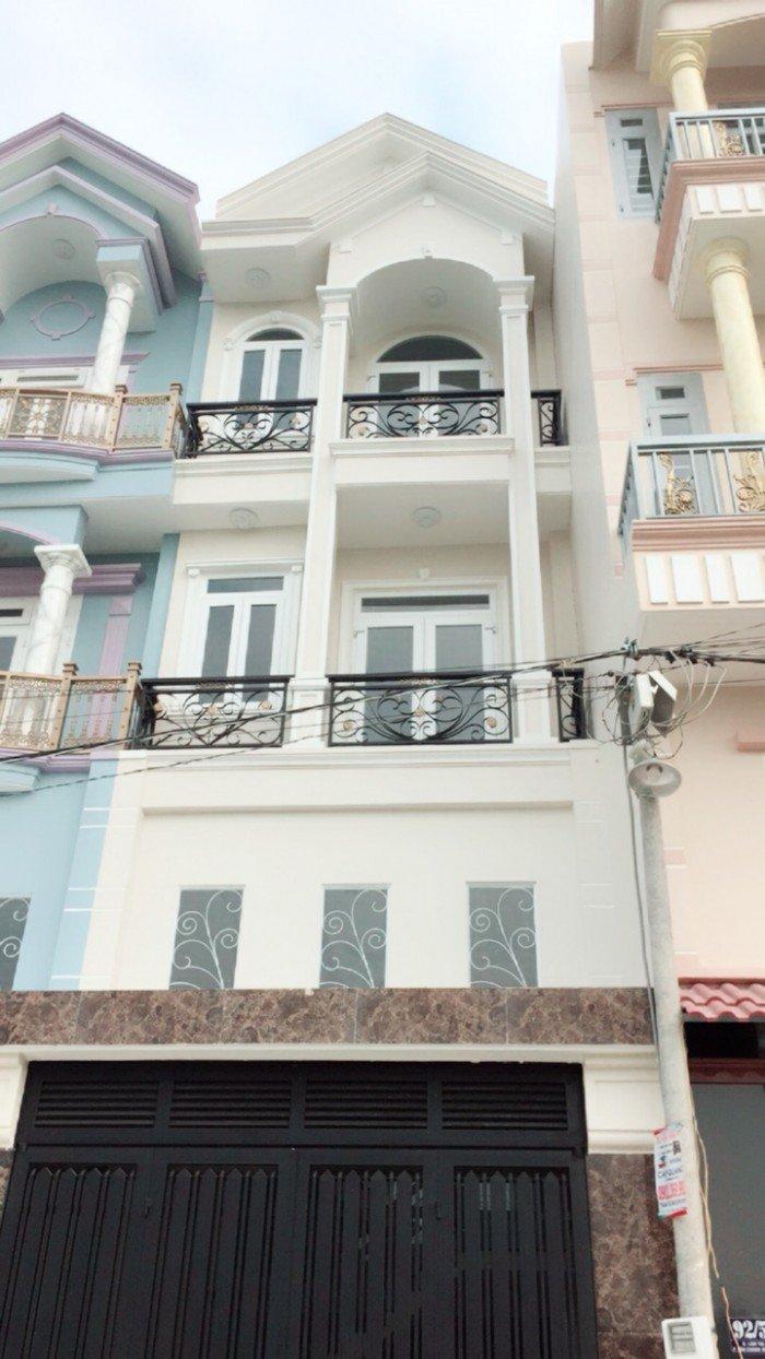 Chính chủ nhà Huỳnh Thị Hai q12 4x15m xây mới 1 trệt 3 lầu,sổ hồng riêng
