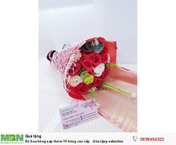 Bó hoa hồng sáp thơm 19 bông cao cấp đỏ0