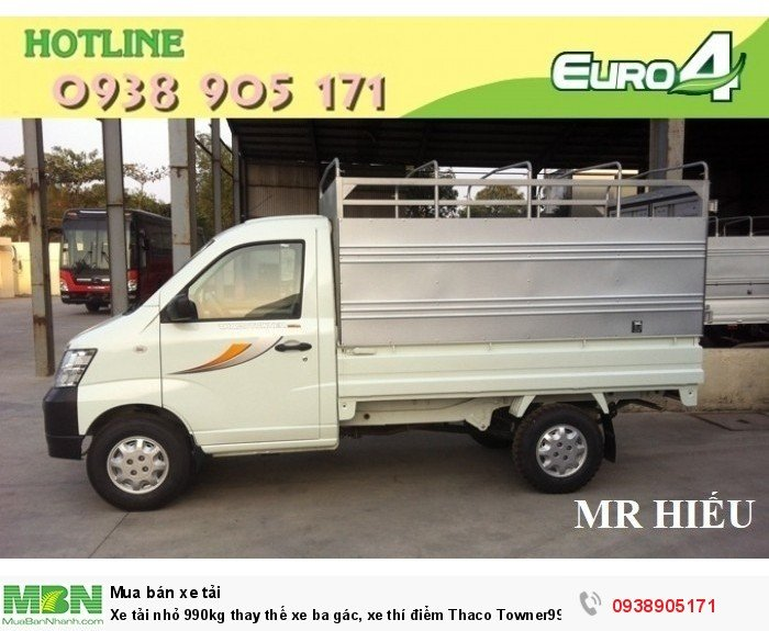 Xe tải nhỏ 990kg thay thế xe ba gác, xe thí điểm Thaco Towner990 giá 216tr chưa thùng. Hỗ trợ trả góp,