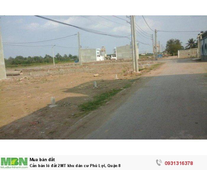Cần bán lô đất 2MT khu dân cư Phú Lợi, Quận 8