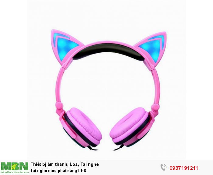 Tai nghe mèo phát sáng LED0
