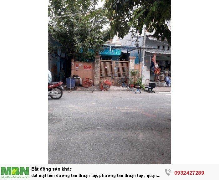 Đất Mặt Tiền Đường Tân Thuận Tây, Phường Tân Thuận Tây , Quận 7,TP HCM