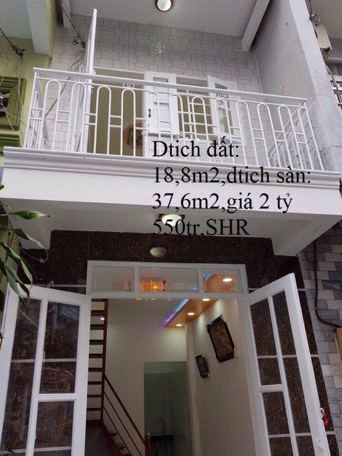Cần bán gấp căn nhà số 42 đường 1 P.An Phú Q2. 1 trệt 1 lầu, dt đất 18,2m2 dt sàn 37,1 m2, SHR