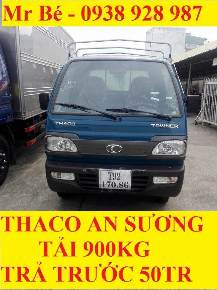 Xe tải thaco towner 800, tải 900 kg, động cơ cn suzuki, đời 2017, trả trước chỉ từ 50tr