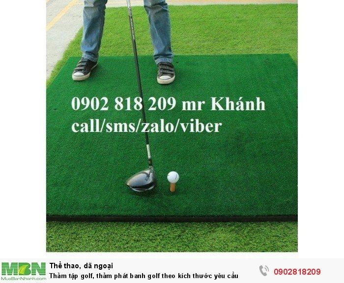 Thảm tập golf, thảm phát banh golf theo kích thước yêu cầu2