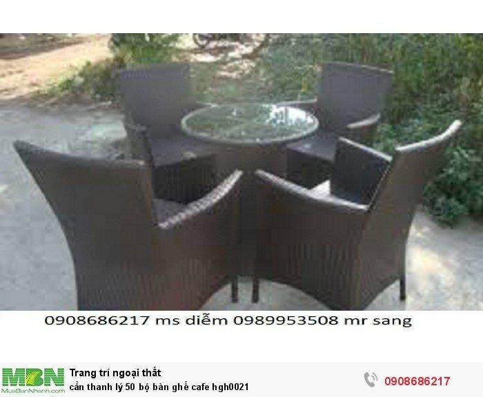 Cần thanh lý 50 bộ bàn ghế cafe hgh00211