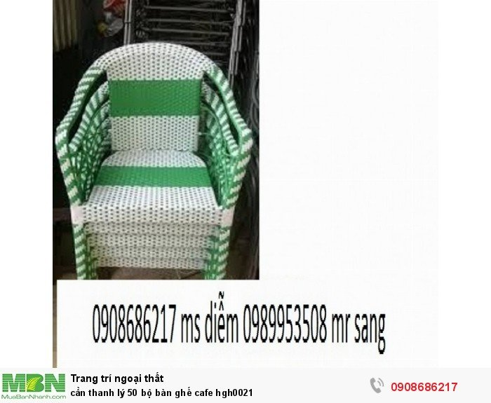 Cần thanh lý 50 bộ bàn ghế cafe hgh00213