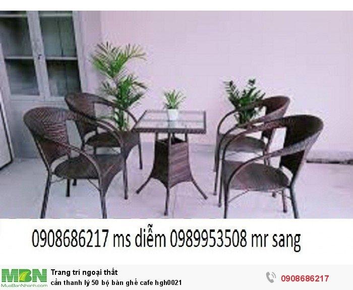 Cần thanh lý 50 bộ bàn ghế cafe hgh00214