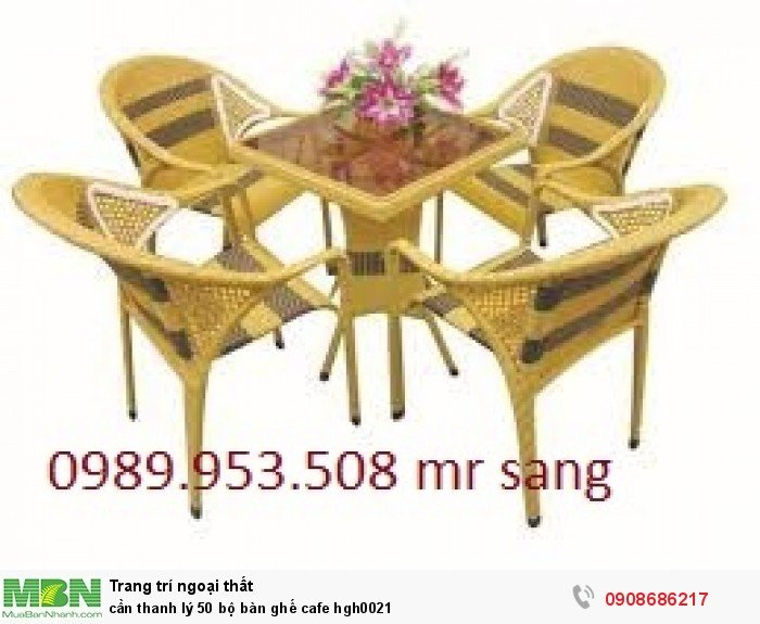 Cần thanh lý 50 bộ bàn ghế cafe hgh00215