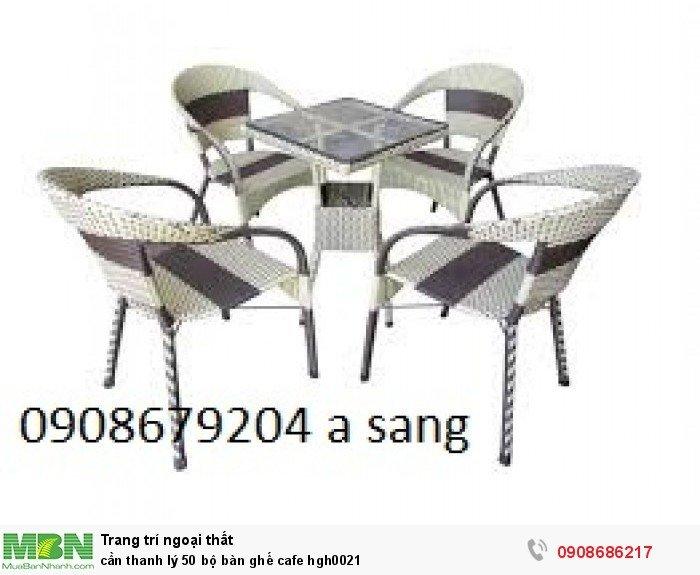 Cần thanh lý 50 bộ bàn ghế cafe hgh00216