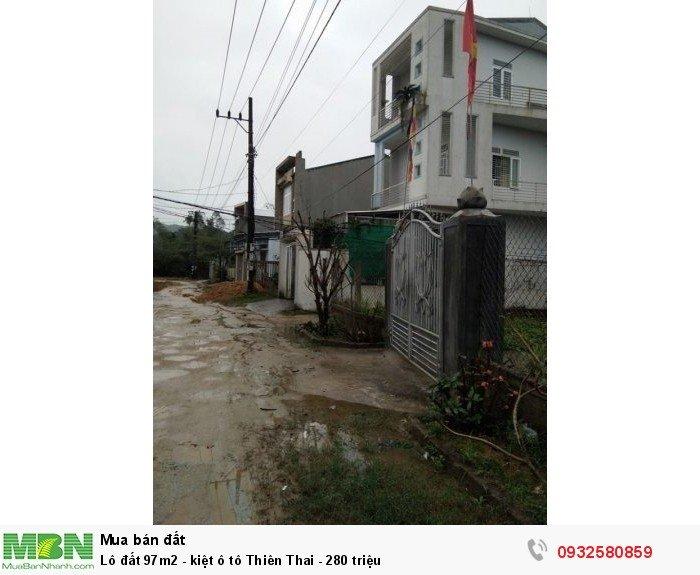 Lô đất 97m2 - kiệt ô tô Thiên Thai