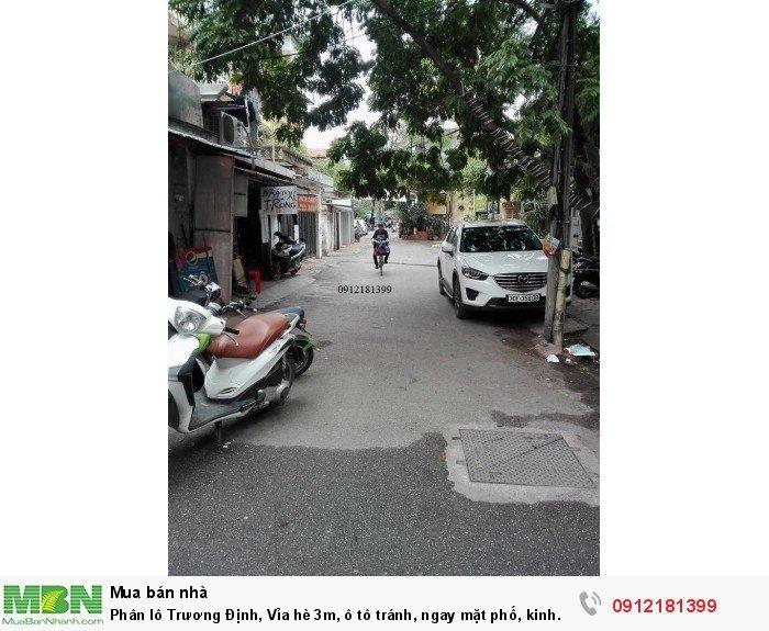 Phân lô Trương Định, Vỉa hè 3m, ô tô tránh, ngay mặt phố, kinh doanh!