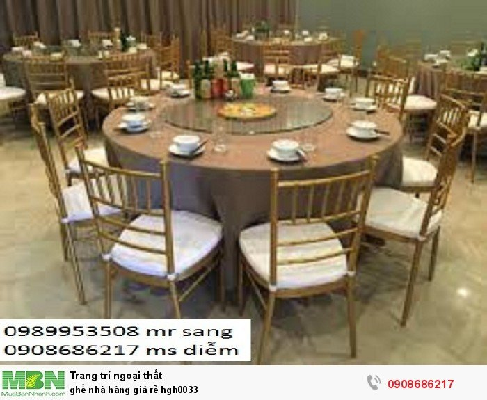 Ghế nhà hàng giá rẻ hgh00334