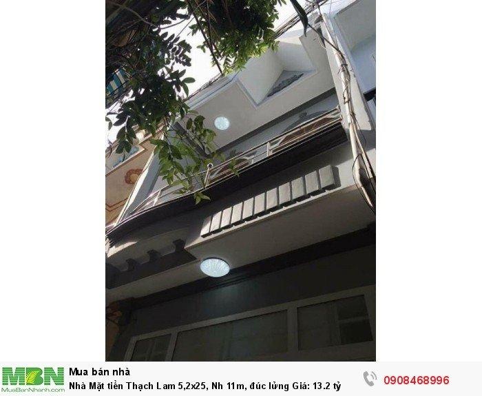 Nhà Mặt tiền Thạch Lam 5,2x25, Nh 11m, đúc lửng