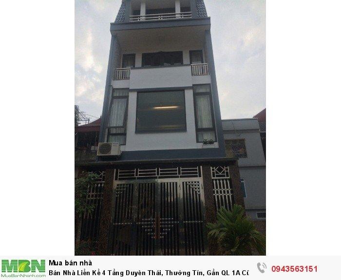 Bán Nhà Liền Kề 4 Tầng Duyên Thái, Thường Tín, Gần QL 1A Cũ
