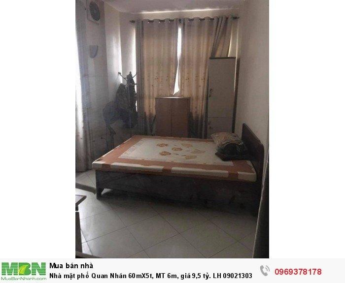 Nhà mặt phố Quan Nhân 60mX5t, MT 6m