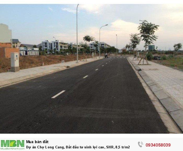 Dự án Chợ Long Cang, Đất đầu tư sinh lợi cao, SHR, 8,5 tr/m2