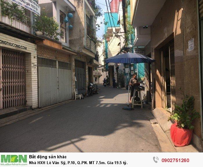 Nhà HXH Lê Văn Sỹ, P.10, Q.PN. MT 7.5m. Gía 19.5 tỷ.