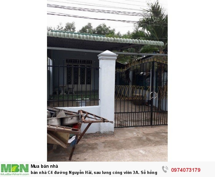 Bán nhà C4 đường Nguyễn Hải, sau lưng công viên 3A. Sổ hồng thổ cư.