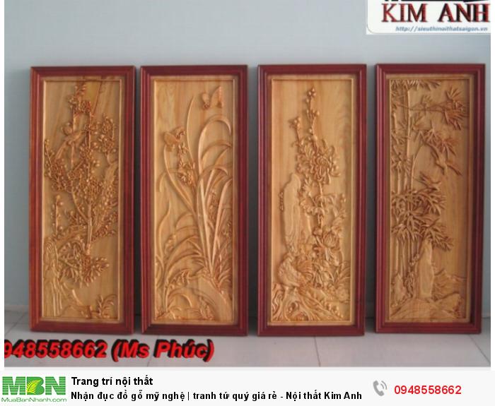 Nhận đục đồ gỗ mỹ nghệ | tranh tứ quý giá rẻ - Nội thất Kim Anh sài gòn0